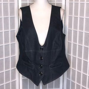 New Directions fitted tailored look vest s…